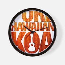 Pure Hawaiian Koa Wall Clock