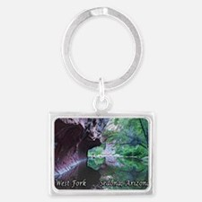 west fork trail_full text Landscape Keychain