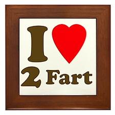+heart2fart Framed Tile