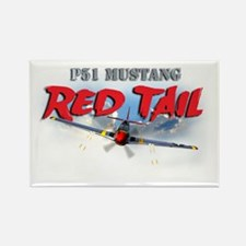 Red Tail 4 transp Rectangle Magnet