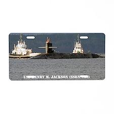 hmjackson framed panel prin Aluminum License Plate