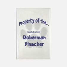 Doberman Property Rectangle Magnet