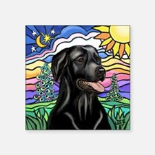 """Country-1L-BlackLab-pointed Square Sticker 3"""" x 3"""""""