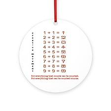 Creative Math puzzle riddle game qu Round Ornament