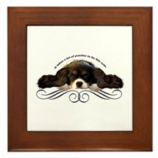 Cavalier Cute plain Framed Tile
