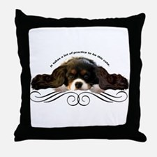 Cavalier Cute plain Throw Pillow