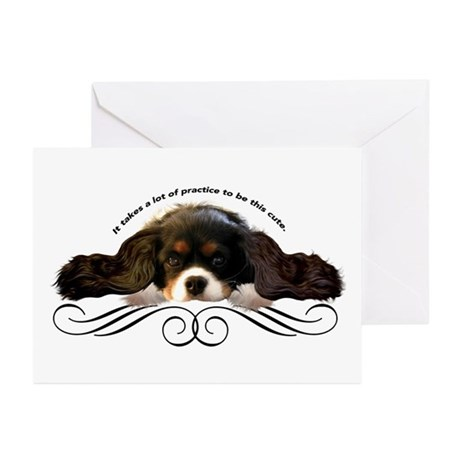 Cavalier Cute plain Greeting Cards (Pk of 10)