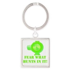 Art_Feat WHat Hunts In It! 2 Square Keychain