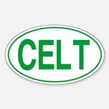 Celt Green for Black Sticker (Oval)