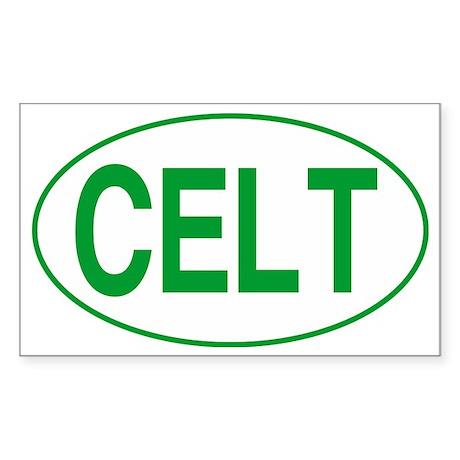 Celt Green for Black Sticker (Rectangle)