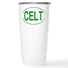 Celt Green for White Thermos Mug
