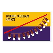Tohono O'odham Flag Rectangle Decal