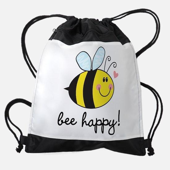 Bee Happy Drawstring Bag