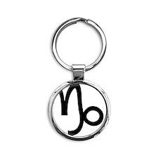 10capricorn Round Keychain
