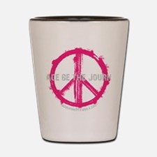Peace be the Journey - Pink Black Shot Glass