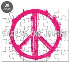 Peace be the Journey - Pink Black Puzzle