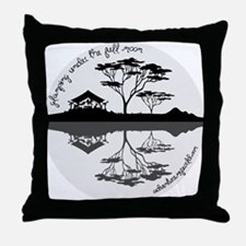 Glamping Under The Full Moon Throw Pillow