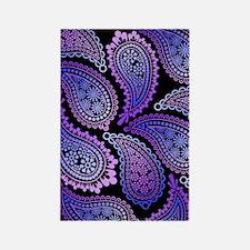 purple paisley slider Rectangle Magnet