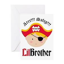 PirateLilBrotherBlonde Greeting Card