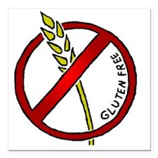 "glutenfree Square Car Magnet 3"" x 3"""