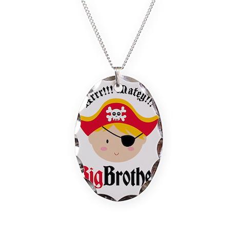 PirateBigBrotherBlonde Necklace Oval Charm