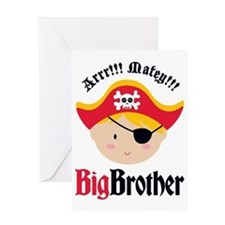 PirateBigBrotherBlonde Greeting Card