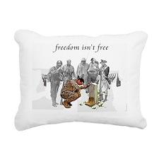 freedom isnt free t-shir Rectangular Canvas Pillow