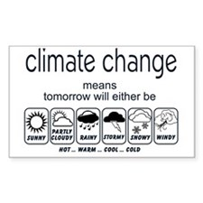 CLIMATE CHANGE t-shirt Decal