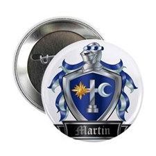 """MARTIN COAT OF ARMS 2.25"""" Button"""