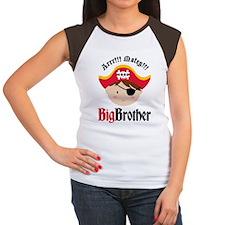 PirateBigBrotherBrown Women's Cap Sleeve T-Shirt