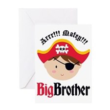 PirateBigBrotherBrown Greeting Card