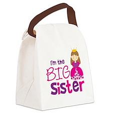 PrincessBigSisterBrownV2 Canvas Lunch Bag