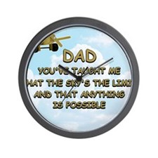 dad_airplane_sky Wall Clock