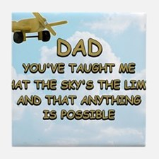 dad_airplane_sky Tile Coaster