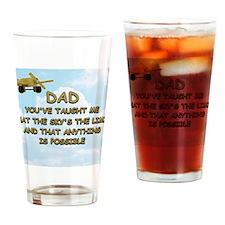 dad_airplane_sky Drinking Glass