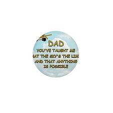 dad_airplane_sky Mini Button