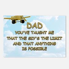 dad_airplane_sky Postcards (Package of 8)