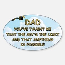 dad_airplane_sky Sticker (Oval)