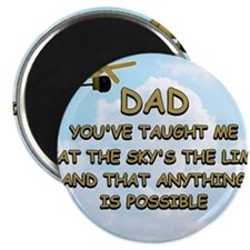 dad_airplane_sky Magnet