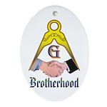 Masonic Brotherhood Oval Ornament