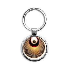 Angel Crop CIrcle Round Keychain