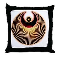 Angel Crop CIrcle Throw Pillow