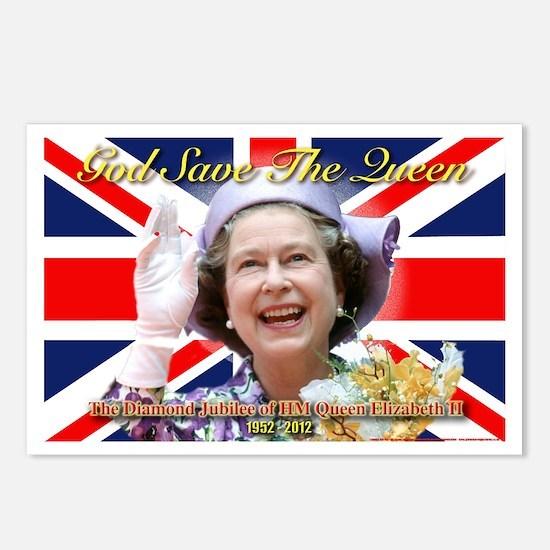 Queen Elizabeth Diamond J Postcards (Package of 8)
