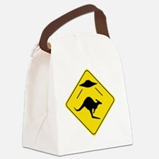 Kangaroo Abduction Canvas Lunch Bag