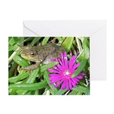 Leopard Frog Jigsaw Puzzle Greeting Card