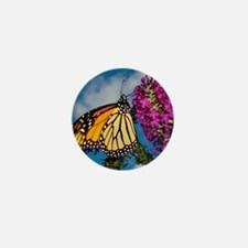 Monarch Butterfly Jigsaw Puzzle Mini Button