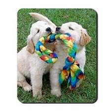 Cute Puppies Jigsaw Puzzle Mousepad