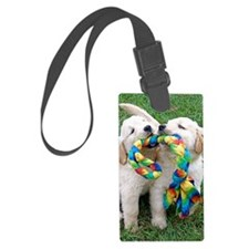 Cute Puppies Jigsaw Puzzle Luggage Tag