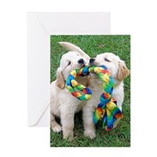 Cute Puppies Jigsaw Puzzle Greeting Card