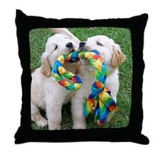 Cute Puppies Jigsaw Puzzle Throw Pillow